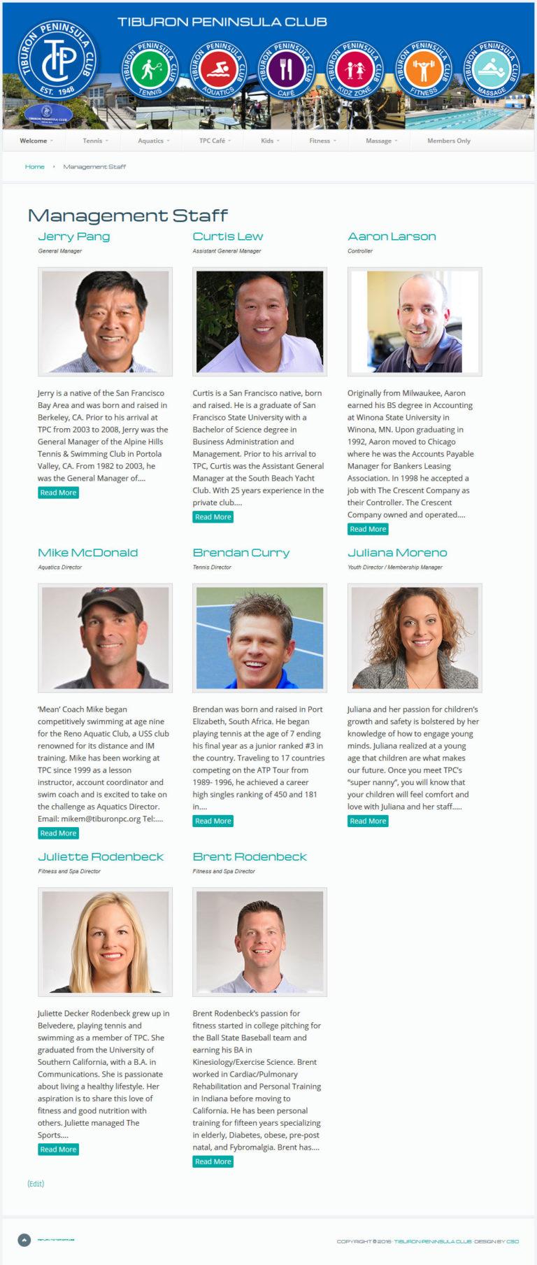 Tiburon Peninsula Club - Content Strategy Online